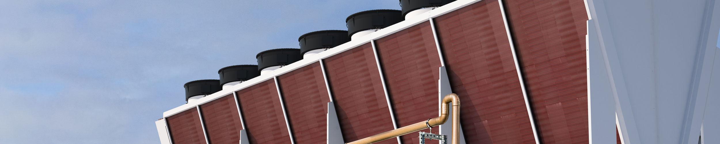 OSTRO, il condensatore a V doppia fila per grandi potenze nella refrigerazione, nel condizionamento e nel processo industriale - STEFANI